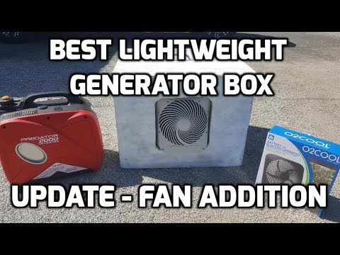 Best Lightweight Generator Quiet Box UPDATE Fan Install