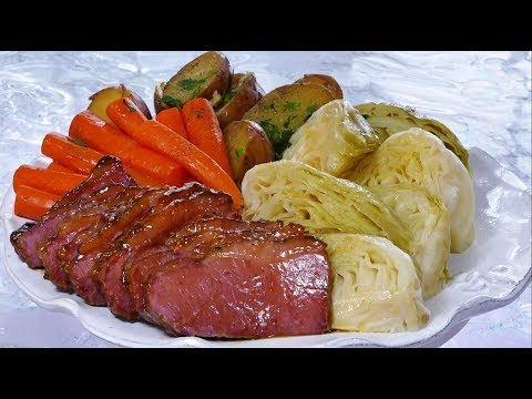 How to Make Glazed Corn Beef and Cabbage