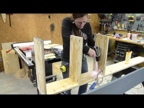 DIY Door Shelving Unit