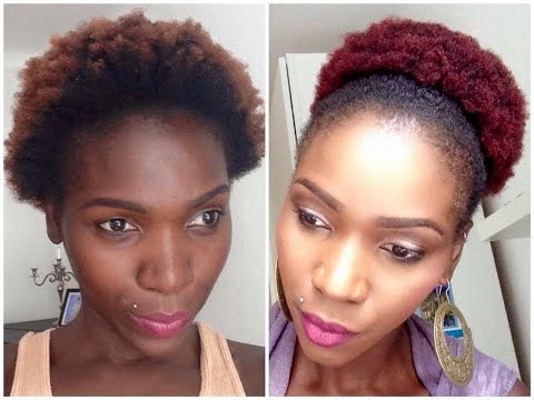Dyeing Natural 4C Hair Burgundy/Maroon/Dark-red (Ombre) part 2