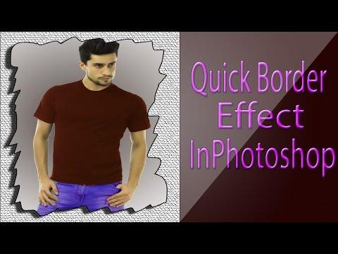 How To Make Quick Border Effect-Photoshop Cs6-Hindi/Urdu Tutorial
