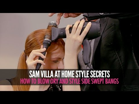 How To Style Side Swept Bangs | Side Sweeping Fringe Tutorial