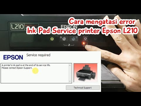 Printer Service : Reset Waste Ink Pad Printer Epson L210 (L110, L300, L350, L355)