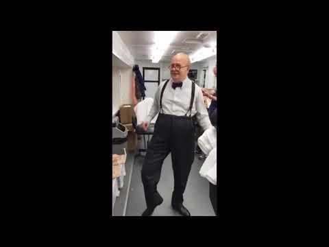 Winston Churchill dancing like James Brown, played by Gary Oldman