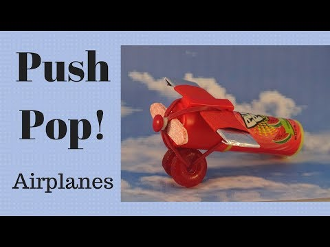 Push Pop Airplane Party Favors- with yoyomax12