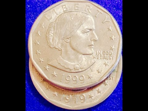 1979-1981, 1999 Susan B Anthony Dollar Coins