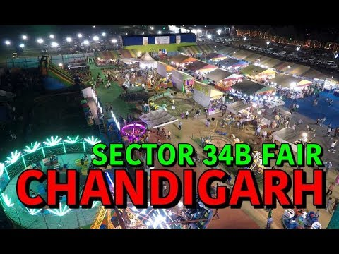 Chandigarh Mela Sector 34 B | Rides and Food | 2017