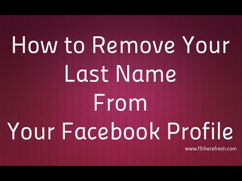 How to Remove your Last name from Facebook 100% working AUGUST 2016 by Harsh Sharma
