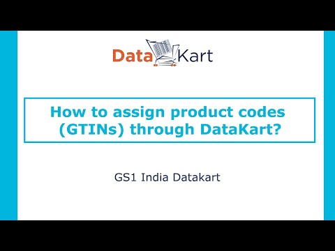 How to assign product codes (GTINs) through DataKart?