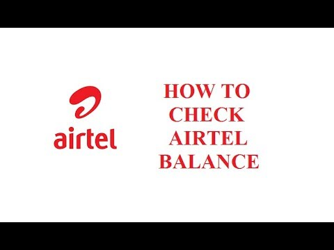 How to check Airtel Main Account Balance