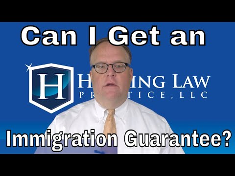 Can I Get an Immigration Guarantee?