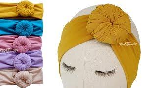 Download Bun Headband for Babies - Donut Turban - Donut Headband DIY Video