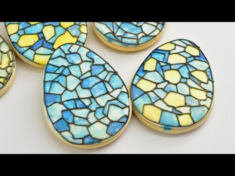 STAINED GLASS EASTER EGG COOKIES by HANIELA'S