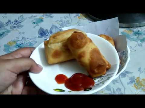 Indian spring roll recipe in hindi at home/easy dessert recipe/using maggie/from ulta ghari