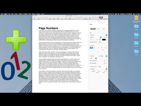 How to Add Page Numbers to Pages
