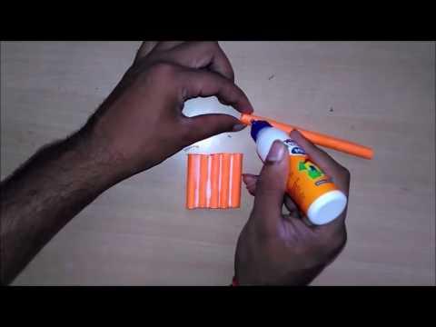 How to make a paper Machine Gun   AK 47   toy for kids