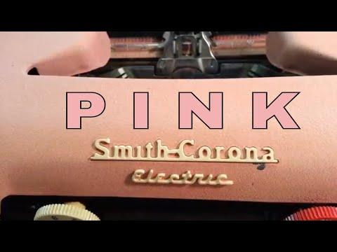 Smith Corona Pink Electric Vintage Typewriter Clean Typefaces Slugs Segment Basket