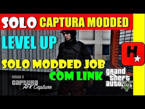 GTA V 1.42 *CAPTURA Modded AFK*  SOLO MONEY GLITCH UPAR CONTA GTA 5 LEVEL UP SOLO GLITCH Modded JOB