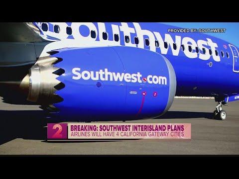 Southwest Airlines announces interisland service, nonstop California flights