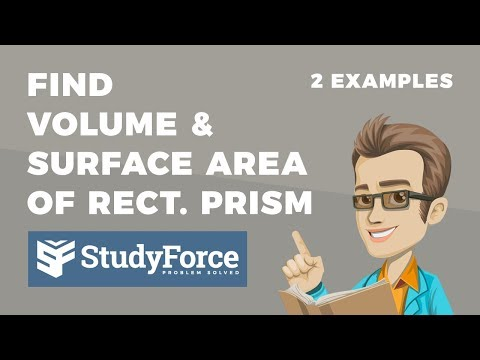 📚 How to find the volume and surface area a rectangular prism