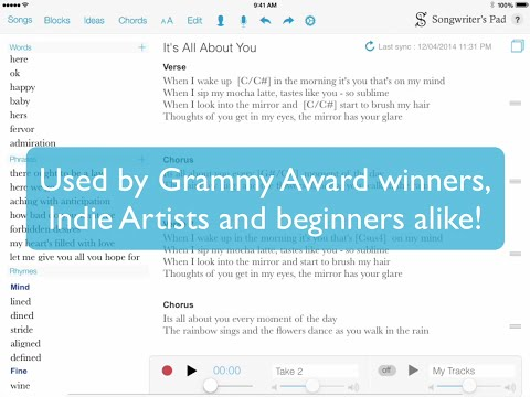 Songwriter's Pad - The Songwriting App for iPad