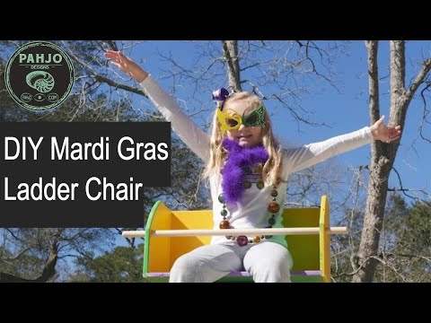 How to Make a Mardi Gras Ladder Chair (Easy DIY Project)