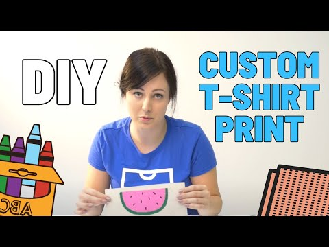 Make a Custom T-Shirt Print with Crayons and Sand Paper | T.shirt.ca