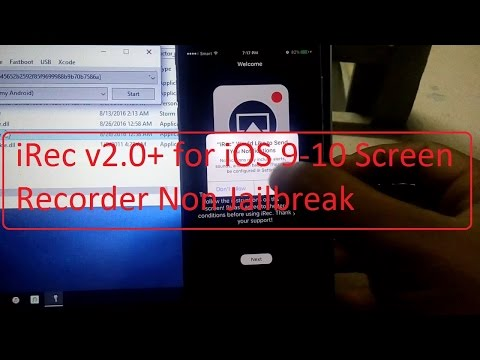 iRec v2.0+ iOS 9-10 Screen Recorder With Cydia Impactor Without Jailbreak For iDevices