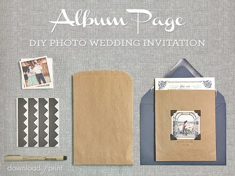 DIY Photo Wedding Invitation - Album Page Style