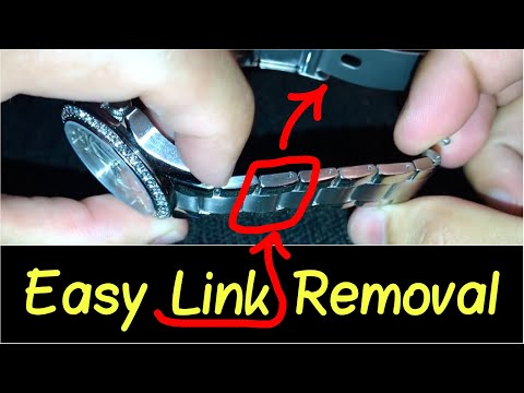 ⛓How to Take a Link Out of a Watch? | Resize your Watch Band... Citizen, Guess, Fossil, etc.