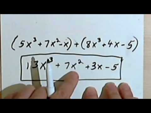 Adding and Subtracting Polynomials 3-9
