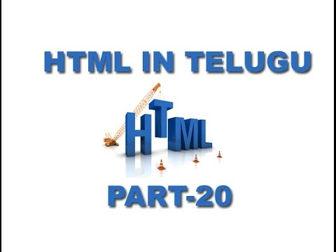 HTML Tutorials in Telugu Table Part 20 [www.timecomputers.in]