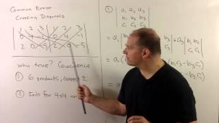 Six Diagonals Trick For 3x3 Determinants