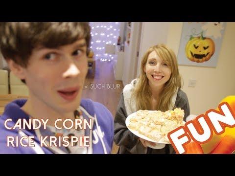 Candy Corn Rice Krispie Treats with Jamie Jo