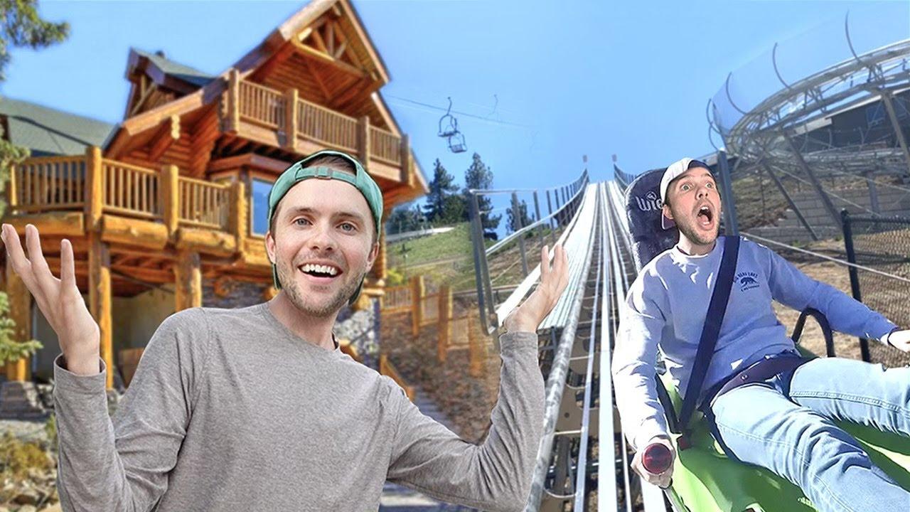 Big Bear Mansion Tour & Roller Coaster Slide!