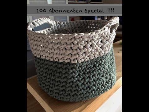 100 Abo Special Körbe Korb Häkeln Aus Zpagetti Textilgarn