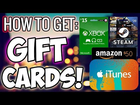 How To Get iTunes, Amazon, Paypal Gift Cards For FREE (2018)