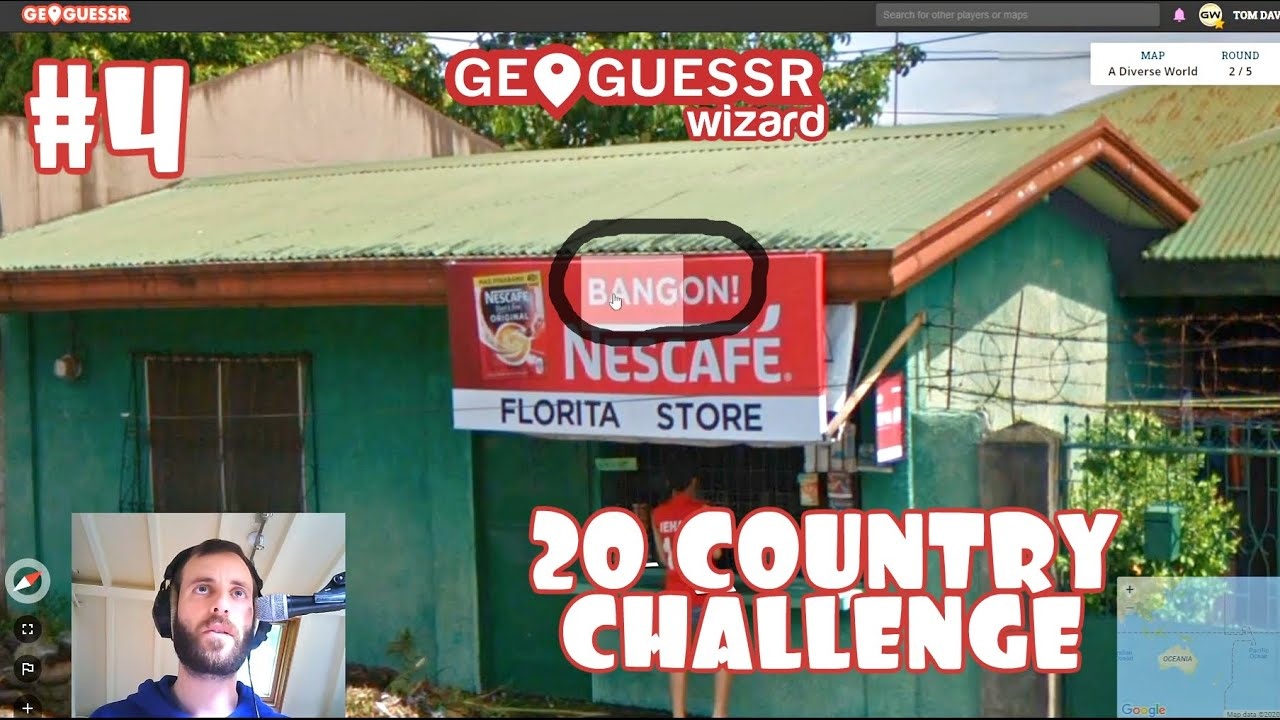 Geoguessr - 20 Country Challenge #4  **Insane Philippines Guess**