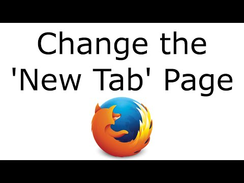 Change the 'New Tab' Page in Firefox