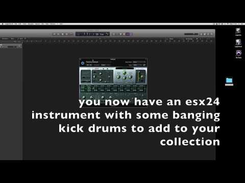Creating a sampler instrument in Logic X esx24