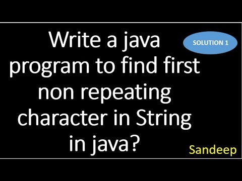 Write a java program to find first non repeated character in String in java?