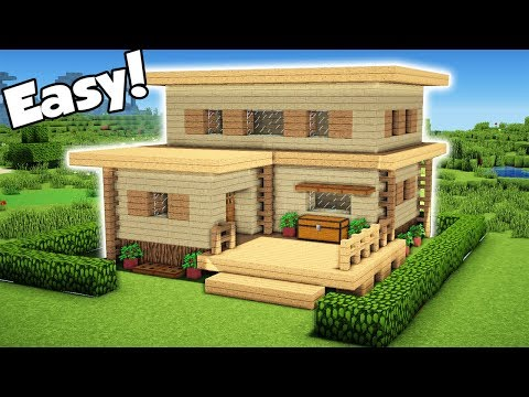 Minecraft: Easy Starter Hosue Tutorial - How to Build a House in Minecraft (#1) 2018