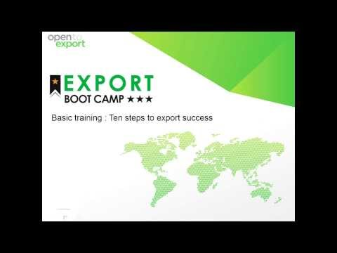 Export Bootcamp | Basic training : Ten steps to export success