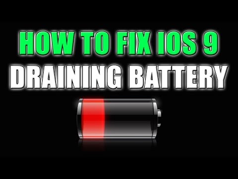 How To: FIX Battery Draining in iOS 9