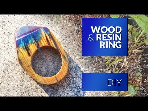 Resin & Wood RING DIY - Secret Wood Ring - simplest method.