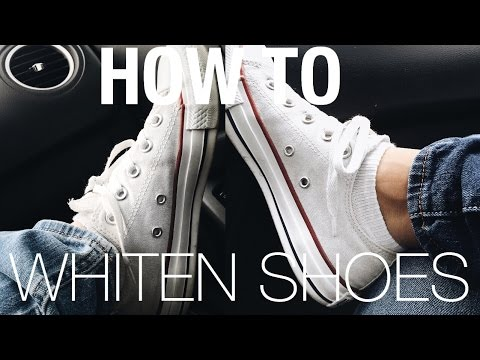 How to Clean & Whiten Your Converse/Vans