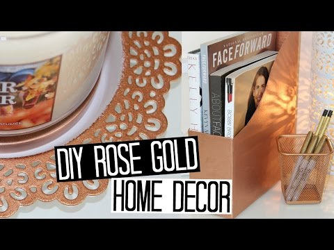 DIY Copper/Rose Gold Decor Ideas