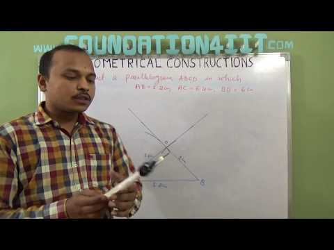How to Construct a Parallelogram When One  side and Both diagonals are given