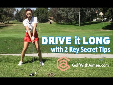 Drive it Longer with 2 Key Secret Tips | Golf with Aimee