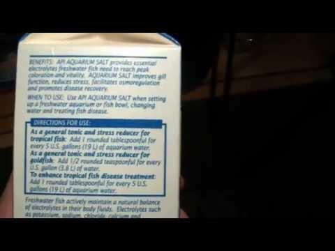 Aquarium salt tutorial